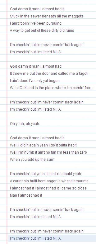 rancid lyrics listed mia