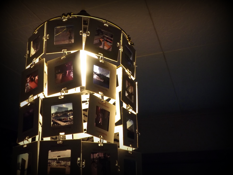 Finally…a project done A vintage slide chandelier…