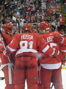 red wings hossa lidstrom