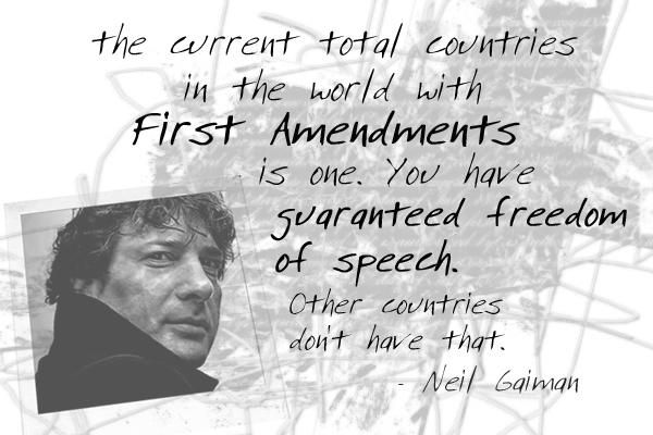 One first amendment